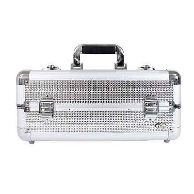 Maleta Profissional de Maquiagem Tam. M Alumínio+ABS Jacki Design Maletas Prata