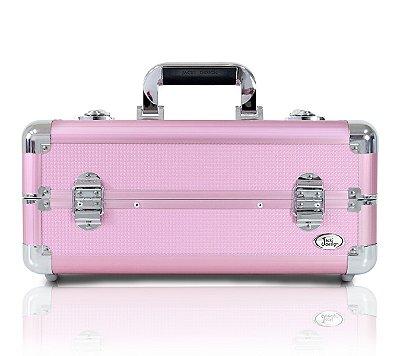 Maleta Profissional de Maquiagem Tam. M Alumínio+ABS Jacki Design Maletas Rosa