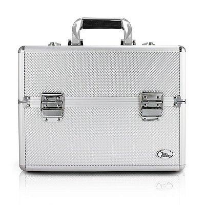 Maleta Profissional de Maquiagem (G) Alumínio/ABS Jacki Design Maletas Prata