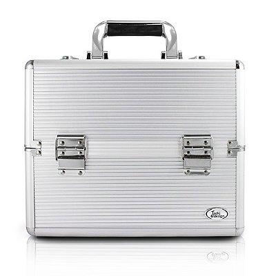 Maleta Profissional de Maquiagem (M) Alumínio/ABS Jacki Design Maletas Prata