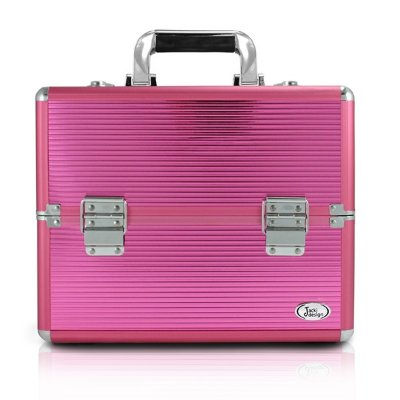 Maleta Profissional de Maquiagem (M) Alumínio/ABS Jacki Design Maletas Pink
