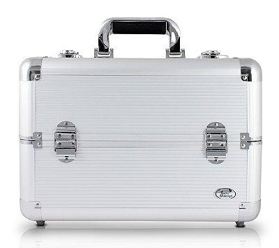 Maleta Profissional de Maquiagem Tam. G Alumínio+ABS Jacki Design Maletas Prata