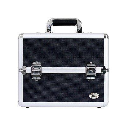 Maleta Profissional de Maquiagem Tam. M Alumínio+ABS Jacki Design Maletas Preto