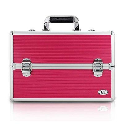 Maleta Profissional de Maquiagem Alumínio+ABS Jacki Design Maletas Pink