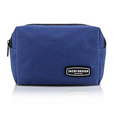 Necessaire Masculina Lisa 600D Nylon Jacki Design Urbano Azul