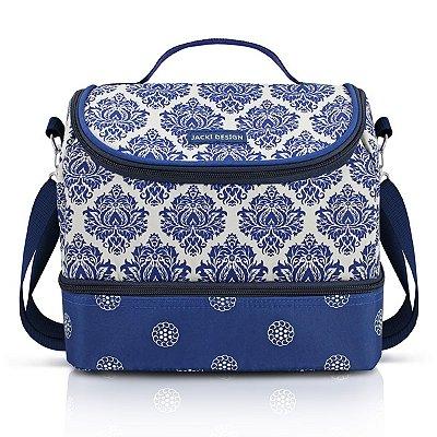Bolsa Térmica com 2 Compartimentos 5700ML Microfibra+Folha de Aluminio Jacki Design Bella Vitta Azul