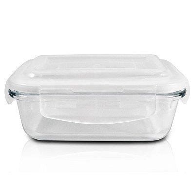 Pote de Vidro Hermético (M) 600ML Tampa: Polipropileno; Pote: Vidro Jacki Design  Cristal