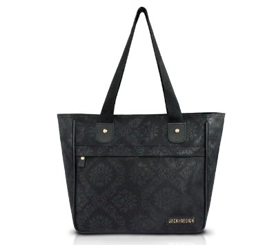 Bolsa Shopper Damasco Microfibra Estampada Jacki Design Essencial II
