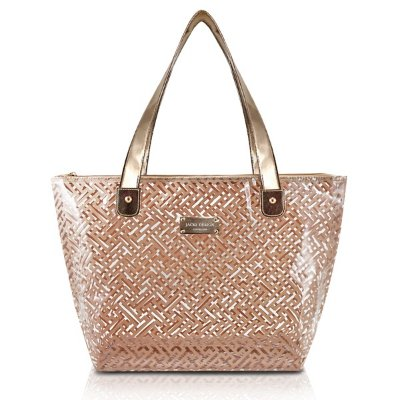 Bolsa Shopper Transparente PVC Jacki Design Diamantes