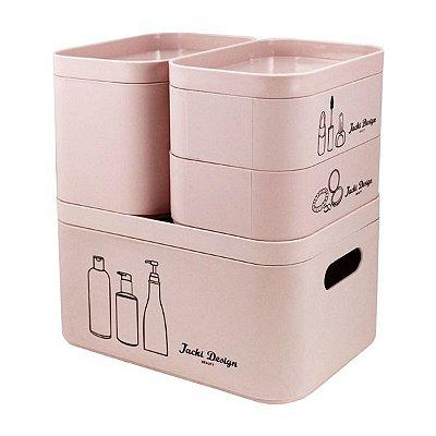 Kit Organizador Beauty de 4 Peças Polipropileno Jacki Design Cozy