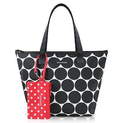 Bolsa com Niqueleira Poliéster Jacki Design Dots