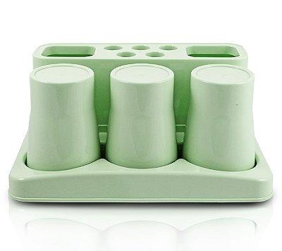 Kit de Banheiro de 5 Peças Polipropileno Jacki Design Lifestyle