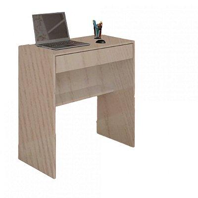 Mesa Escrivaninha Com 1 Gaveta E Prateleira Em Mdf - Madeira