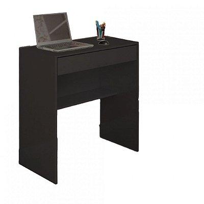 Mesa Escrivaninha Com 1 Gaveta E Prateleira Em Mdf - Preto