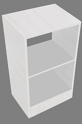 Mesa de Cabeceira Com 2 Nichos Em Mdf - Branco