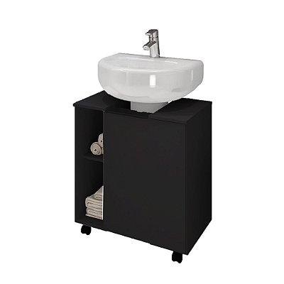 Gabinete Coluna Banheiro - Preto