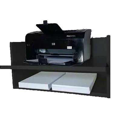 Suporte Para Impressora Com Nicho Em Mdf - Preto