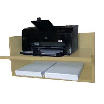 Suporte Para Impressora Com Nicho Em Mdf - Natural