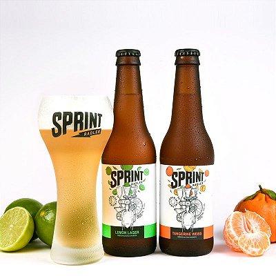 Sprint Tangerine Weiss e Lemon Lager (355 ml) - Caixa Mista com 12 garrafas