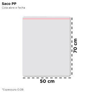Saco de Polipropileno para Embalagem – 50×70 - 1000 Unidades