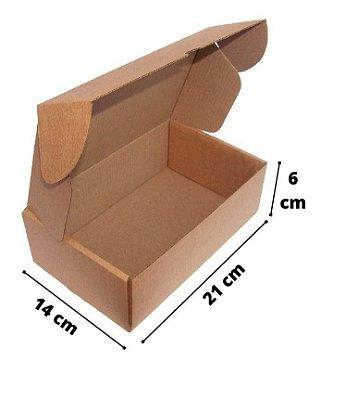 Caixa de Papelão Corte e Vinco Onda B Simples - N1 - 21 x 14 x 6