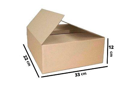 Caixa de Papelão Maleta Onda B Simples - N3 - 33 x 22 x 12