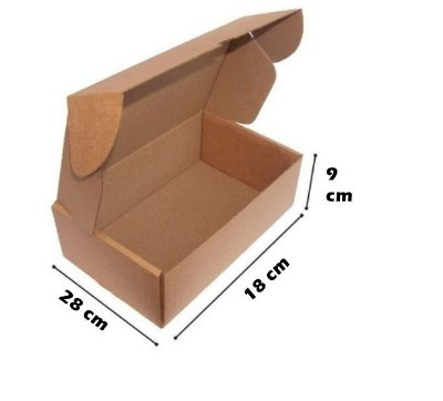 Caixa de Papelão Corte e Vinco Onda B Simples - N9 - 28 x 18 x 9