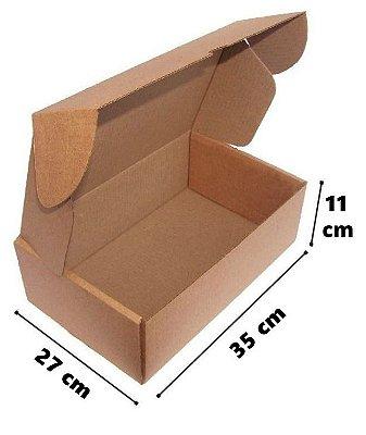 Caixa de Papelão Corte e Vinco Onda B Simples - N12 - 35 x 27 x 11