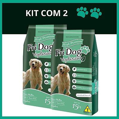 FriDog | Ração Vegetariana 15KG - Kit com 2