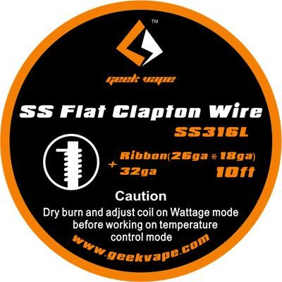 Fio SS316L - SS 316 Flat Clapton Wire - 3 Metros - GeekVape