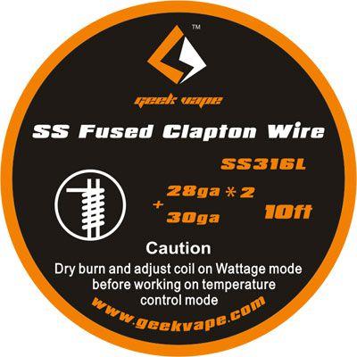 Fio SSL316L - SS Fused Clapton Wire - 3 Metros - GeekVape