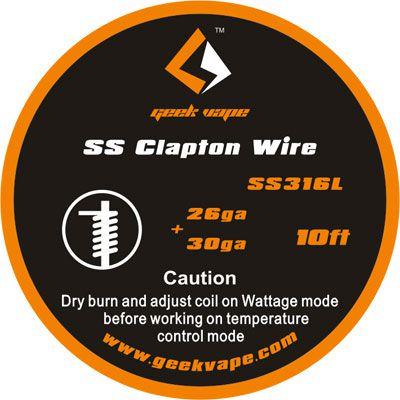 Fio SSL316L - SS Clapton Wire - 3 Metros - GeekVape