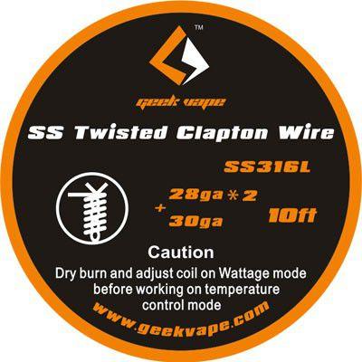 Fio SSL316L - SS Twisted Clapton Wire - 3 Metros - GeekVape