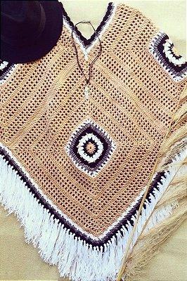 Poncho Étnico Handmade