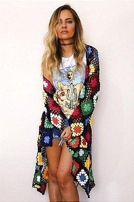 Kimono crochê handmade GYPSY