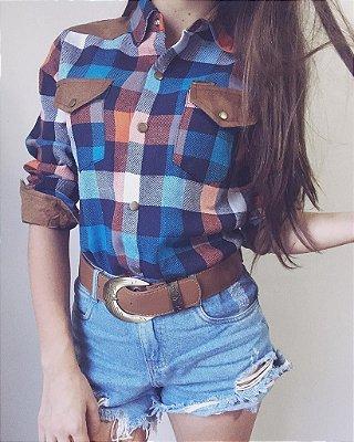 Camisa Xadrez Western Azul