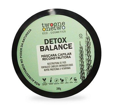 Máscara Capilar Vegana Detox Balance - cabelo oleoso - Twoone Onetwo