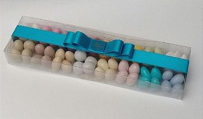 Caixa Acetato 16 divisões 320 gr amêndoas confeitadas sabores e cores variados