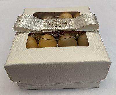 Caixa Parigina papel cartão 80 gr amêndoas confeitadas sabores variados