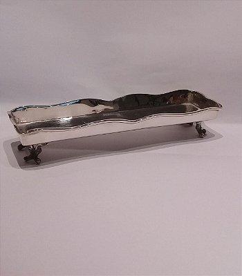 Porta caneta em prata sheffield 21 x 16 x 4 cm