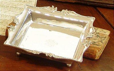 Centro de mesa em prata sheffield 18 x 18 x 3 cm