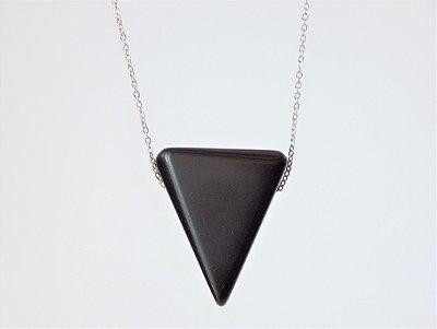 Colar Difusor Pessoal Triângulo - Obsidiana