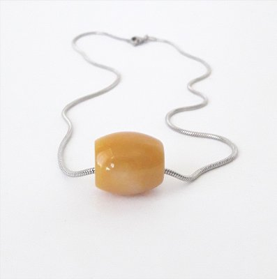 Colar de Pedra Jade Amarela - Oval