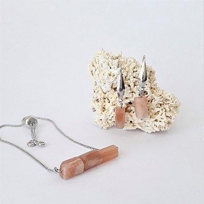 Conjunto Pulseira e Brinco - Pedra-do-Sol