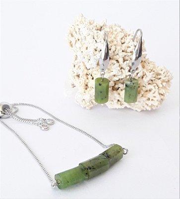 Conjunto Pulseira e Brinco - Jade