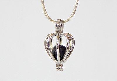 Difusor Pessoal Coração de Prata 925 - Pingente