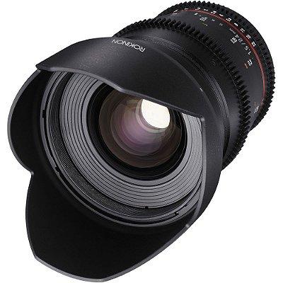 Lente Rokinon 24mm T1.5 Cine DS para montagem Micro Four Thirds