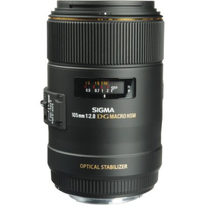 Lente Sigma macro 105mm f/2.8 EX DG OS HSM EF-Mount