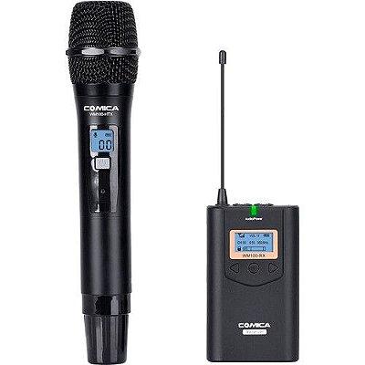 Sistema de microfone de mão sem fio Comica Audio CVM-WM100H