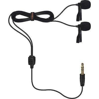 Microfones de lapela omnidirecionais Comica Audio CVM-D02